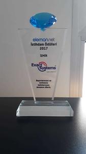 Exact Systems Türkiye olarak, İzmir bölgesinde Eleman.net tarafından 2017 İstihdam Ödülüne layık görüldük.